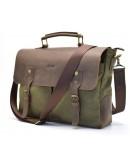 Фотография Мужской портфель - сумка из кожи и ткани Tarwa RC-3960-H