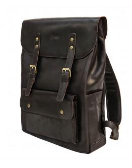 Темно-коричневый кожаный мужской рюкзак Tarwa RC-9001-4lx