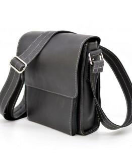 Черная мужская кожаная винтажная сумка Tarwa RG-3027-3md