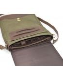 Фотография Большая мужская сумка на плечо из кожи и ткани Tarwa RH-1808-4lx