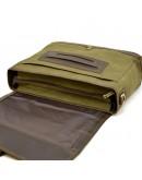 Фотография Большая мужская сумка на плечо кожа+ткань Tarwa RH-1809-4lx
