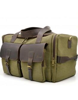 Дорожная универсальная сумка из ткани и кожи Tarwa RH-5915-4lx