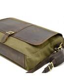 Фотография Большая деловая мужская тканево-кожаная сумка Tarwa RH-8880-4lx