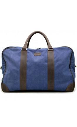 Синяя тканевая мужская сумка дорожная Tarwa RK-6827-4lx