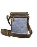 Фотография Мужская сумка на плечо из ткани и кожи Tarwa RKj-3938-4lx
