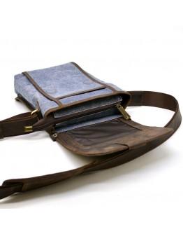 Мужская сумка на плечо из ткани и кожи Tarwa RKj-3938-4lx
