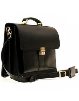 Черный кожаный мужской небольшой портфель Manufatto RP-1Black