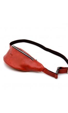 Женская красная сумка на пояс - бананка Tarwa RR-3035-4lx