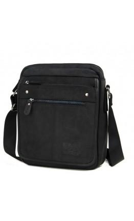 Серо-черная сумка мужская кожаная на плечо RR-8090A
