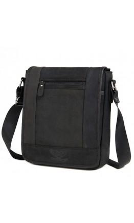 Серая мужская кожаная сумка на плечо RR-8095A