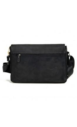 Мужская кожаная сумка серо-черного цвета формата А4 RR-8285A