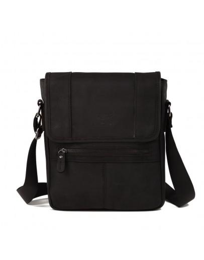 Фотография Мессенджер мужской кожаный, серо-черный RR-8396A