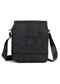 Мужская сумка на плечо, серо-черная RR-8399A