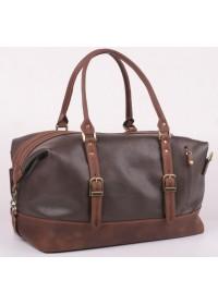 Темно-коричневая мужская кожаная сумка для командировок Manufatto S7-2 brown