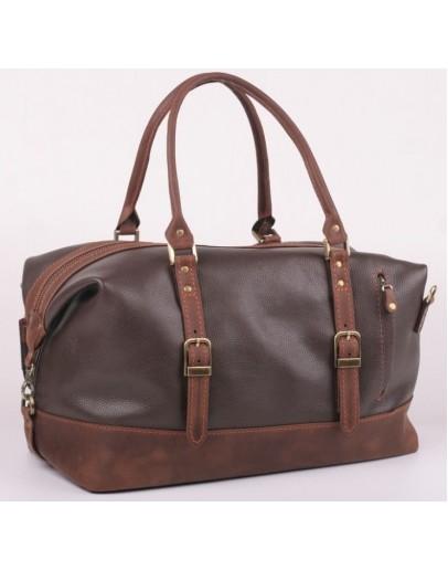 Фотография Темно-коричневая мужская кожаная сумка для командировок Manufatto S7-2 brown