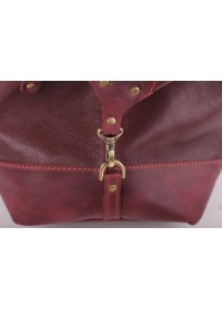 Вместительная кожаная сумка для командировок Manufatto S7-3 redbrown
