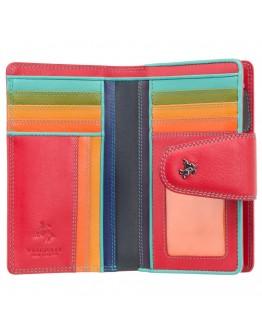 Красный кожаный кошелек Visconti SP30 Ylang c RFID (Red Multi Spectrum)