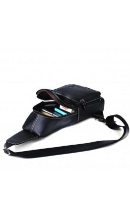 Рюкзак мужской черный на одну шлейку T1359