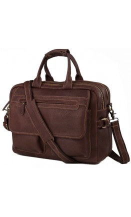 Коричневая мужская кожаная сумка для мужчин T29523B