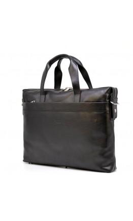 Черная кожаная мужская сумка для ноутбука и документов Tarwa TA-0042-4lx