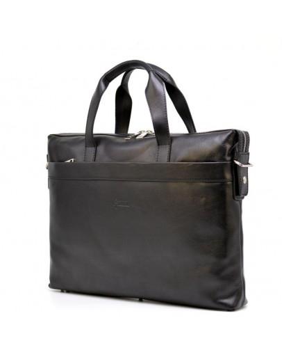 Фотография Черная кожаная мужская сумка для ноутбука и документов Tarwa TA-0042-4lx