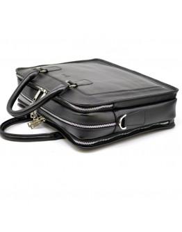 Вместительная сумка кожаная для документов и ноута Tarwa TA-4666