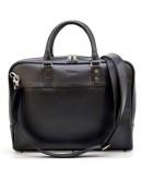 Фотография Черный мужской кожаный портфель - сумка Tarwa TA-4765-4lx