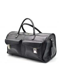 Черная дорожная кожаная мужская сумка Tarwa TA-5664-4lx