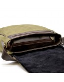 Фотография Большая сумка на плечо из ткани и натуральной кожи Tarwa TC-1047-3md