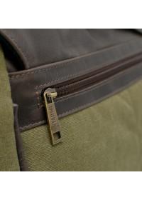 Большая сумка на плечо из ткани и натуральной кожи Tarwa TC-1047-3md