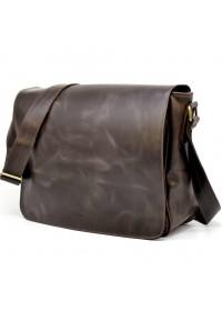 Коричневая винтажная большая мужская сумка на плечо  Tarwa TC-1047-4md