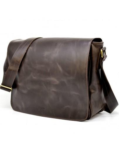 Фотография Коричневая винтажная большая мужская сумка на плечо  Tarwa TC-1047-4md