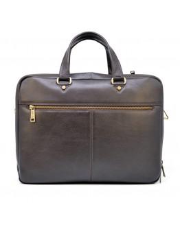 Мужская вместительная коричневая кожаная деловая сумка Tarwa TC-4664-4lx