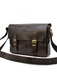 Мужская коричневая кожаная сумка на плечо Tarwa TC-6002-3md