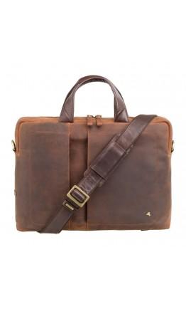 Мужская винтажная сумка - портфель Visconti TC76 Octo 13 (Havana Tan)