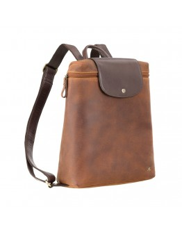 Женский кожаный винтажный рюкзак Visconti TC86 Saddle (Tan Merlin)