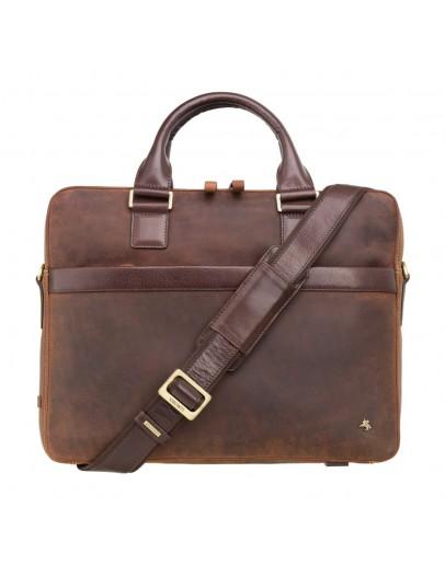 Фотография Мужская винтажная сумка Visconti TC88 Victor 13 (Havana Tan-mln)