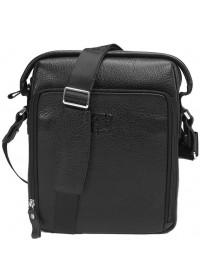 Кожаная сумка черная мужская на плечо Tifenis TF68579A