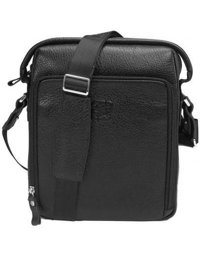 Фотография Кожаная сумка черная мужская на плечо Tifenis TF68579A