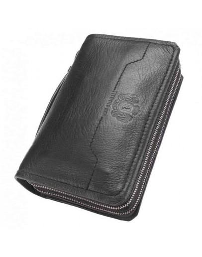 Фотография Черный кожаный клатч Tifenis TF69150A