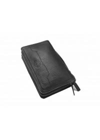 Черный кожаный клатч Tifenis TF69150A