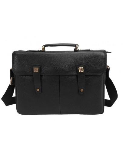 Фотография Мужской портфель, черный кожаный Tifenis TF69181A
