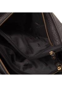 Сумка мужская черная из качественной натуральной кожи TF69247A