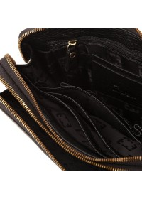 Клатч мужской кожаный черного цвета TF69413A