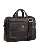 Фотография Черная сумка из натуральной кожи мужская TF69840-7A
