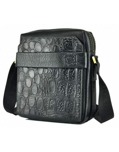 Фотография Черная кожаная мужская сумка на плечо Tifenis TF69856-5CR