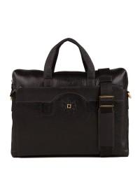 Вместительная сумка мужская кожаная черного цвета TF69876-8A