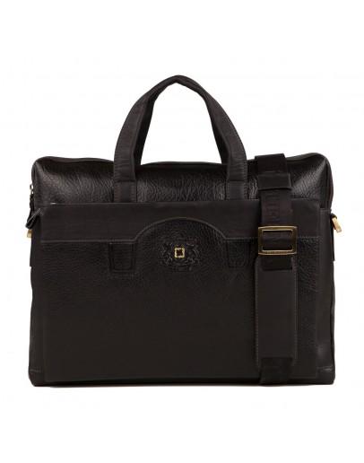 Фотография Вместительная сумка мужская кожаная черного цвета TF69876-8A