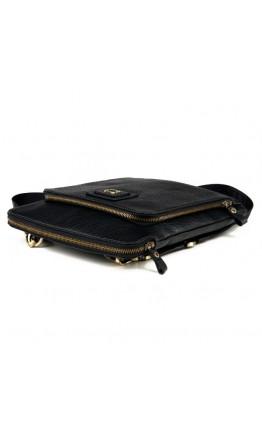 Удобная черная кожаная мужская сумка-планшетка Tifenis TF69905-2A
