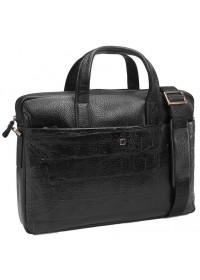 Черный мужской портфель, шикарная кожа Tifenis TF69918-3A